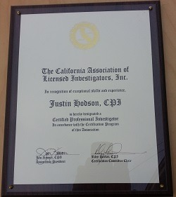 orange county private investiator justin d hodon cpi certified professional investigator