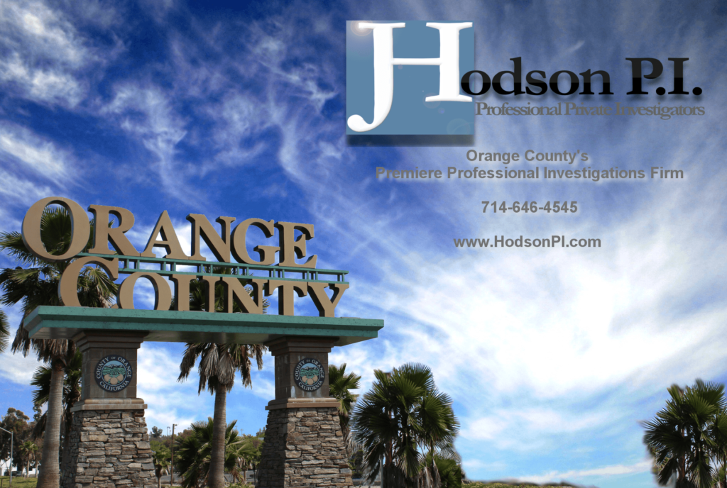 Orange County Private Investigator Private Detective Orange County Investigations Justin Hodson Justin D Hodson CPI detectives investigators private Orange County California