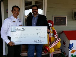 Hodson P.I. LLC gives to Ronald McDonald House charity